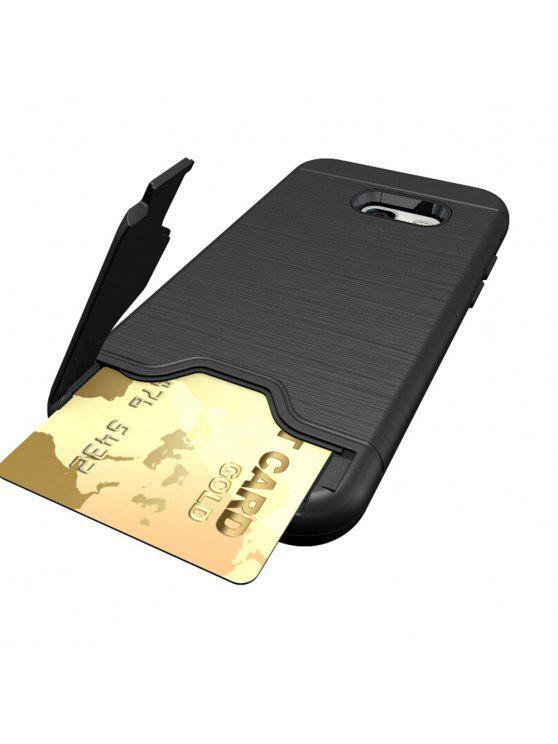 صدمات مريحة فتحة بطاقة واحدة الصلب عودة القضية لسامسونج غالاكسي a3 2017 - أسود