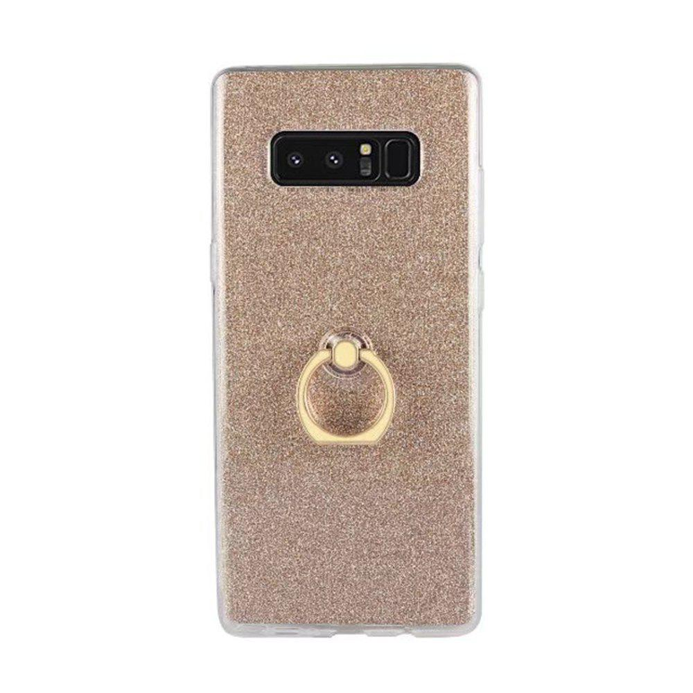 Wkae Soft Flexible TPU Housse de protection avec protection antichoc avec Bling Glitter Sparkles et Kickstand pour Samsung Galaxy Note 8