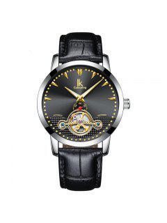 IKCOLOURING K016 4588 Ocio Mecánico Banda Hombre Reloj - Negro