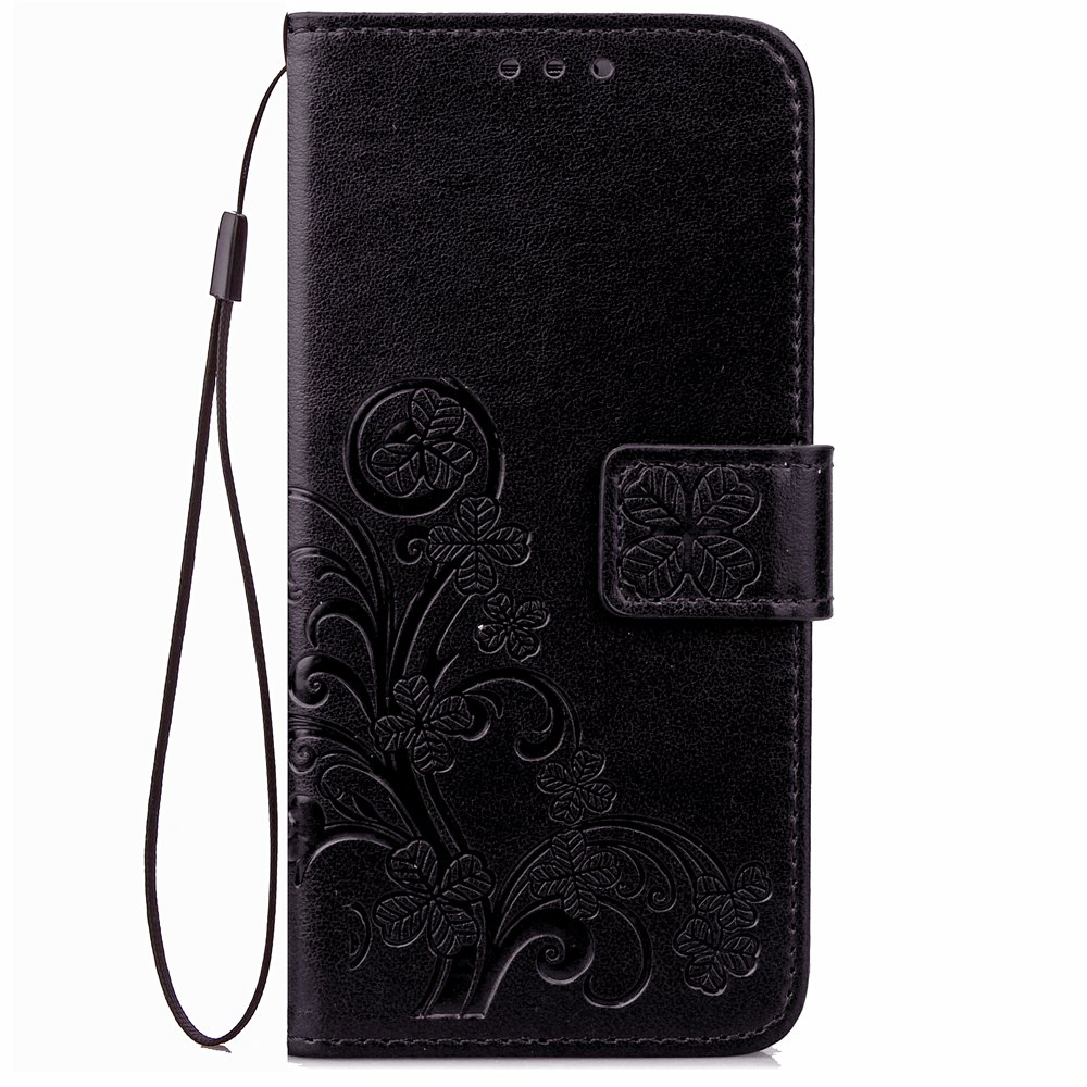 Yc Lucky Clover Holster Leaf Card Lanyard Pu Leather Case for Samsung J120 J1 ( 2016 ) 228972201
