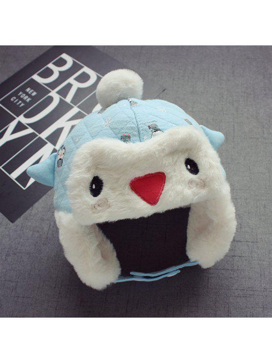 الخريف / الشتاء الطفل البطريق الكرتون قبعة 2-10 أشهر الطفل قبعة مع سميكة الكرة الأذن كاب - اللازورد
