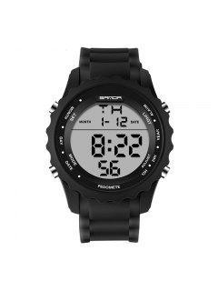 Sanda 369 4590 Fashion Luminous Quartz Men Watch - Black + White