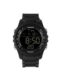 Sanda 369 4590 Fashion Luminous Quartz Men Watch - Black
