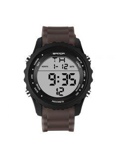 Sanda 369 4590 Fashion Luminous Quartz Men Watch - Brown