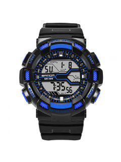 Sanda Fashion Date Display Men Sports Watch - Black And Blue