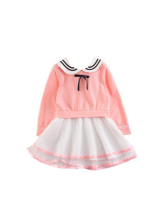 490fc51dd 2017 Niños Ropa Niñas Vestido Falda Versión Coreana de La Nueva Manga Larga  de Algodón Vestido de Princesa Para Niños