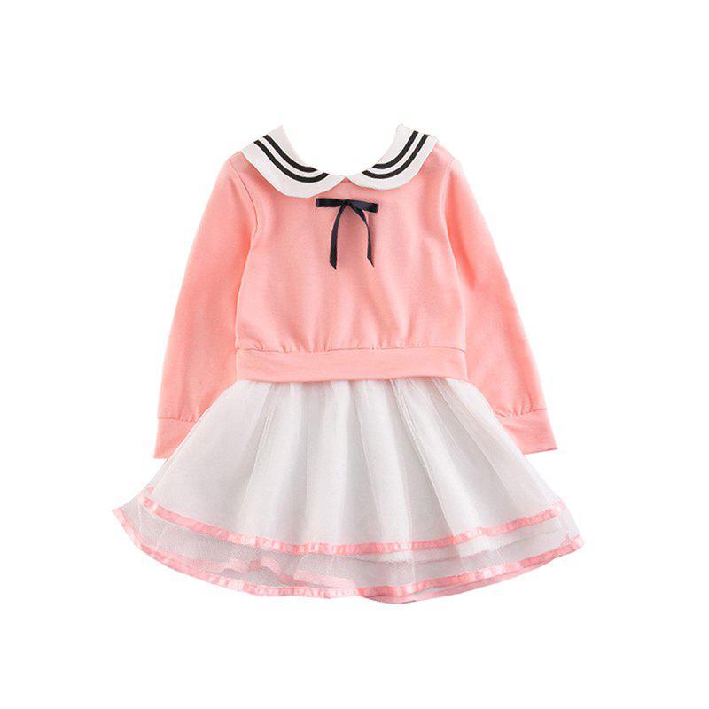 2017 Children Clothing Girls Dress Skirt Korean Version of The New Long Sleeved Cotton Childrens Princess Dress 229421502