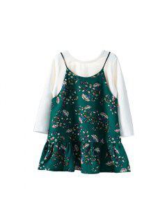 T-shirt à Manches Longues à Manches Longues Et Robe Moulante - Vert 100