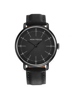 MINI FOCUS Mf0056g Reloj De Hombres Contratados Del Dial De La Manera 4530 - Negros