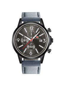 MINI FOCUS Mf0084G 4533 Reloj De Cuarzo Con Aguja Luminosa Para Hombre  - Gun Metal
