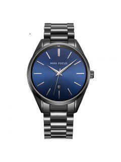 MINI FOCUS Mf0050G 4446 Reloj De La Exhibición Del Calendario De Los Hombres - Negro + Azul