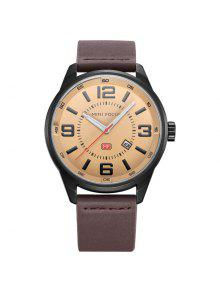 RELÓGIO MINI FOCUS Mf0050G 4447 Luminous Needle Men Watch - Café
