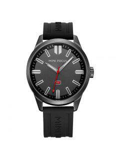MINI FOCUS Mf0050G 4448 Luminosa Aguja Calendario Display Hombre Reloj - Negro