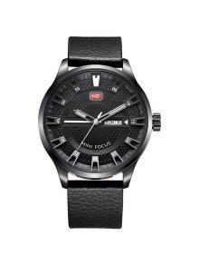 ميني فوكوس Mf0028G 4289 الأزياء التقويم عرض الرجال ووتش - أسود