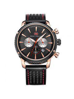 MINI FOCUS Mf0010G 4369 Calendario De Ocio Reloj Para Hombre - Rosa De Oro