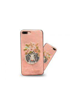 Mobile Phone Case Embroidered With Flamingo Complete Package For Iphone 7 Plus - Pink