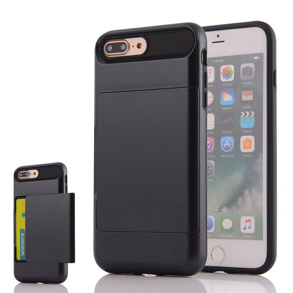 Mini Smile Multifonctionnel haute qualité anti-poussière protecteur Pc Tpu Back Case Cover avec slot pour carte pour Iphone 8 Plus / Iphone 7 Plus