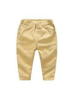 2017 Nouveau Printemps Enfants Casual Pantalon Pantalon Pantalon Coton Vêtements Homme Enfant Simple Marée - Kaki 90