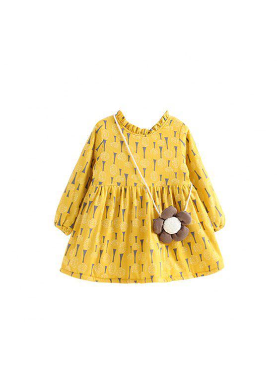 shops 2017 New Autumn All-Match Fresh Garden Style Printing Butterfly Floral Children Princess Dress - DAISY 90