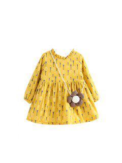 2017 New Autumn All-Match Fresh Garden Style Printing Butterfly Floral Children Princess Dress - Daisy 90