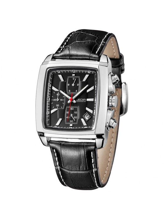 Jedir 2028 5292 Relógio Multifuncional Masculino com Exibição de Calendário - Preto