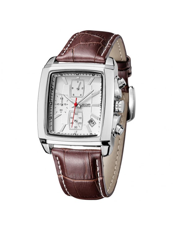 Jedir 2028 5292 Multifuncional reloj calendario hombres reloj - Nieve Blanca