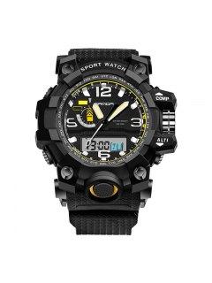 Sanda 732 5315 Al Aire Libre Multifuncional Pin Buckle Men Watch - Negro