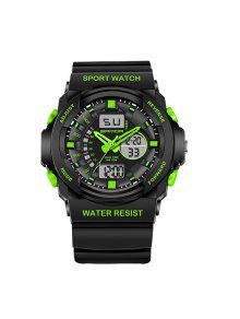 Sanda 241 5297 LED Luminosa Cuarzo Movimiento Hombre Reloj - Verde