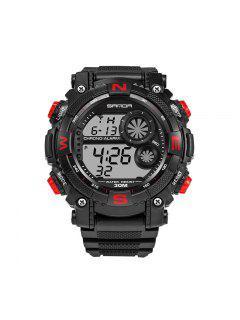 Sanda 323 5304 Sports Multifunctional Hombre Reloj - Rojo