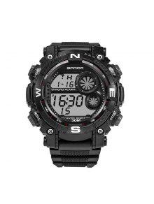 Sanda 323 5304 Relógio De Esporte Multifuncional Para Homens - Preto