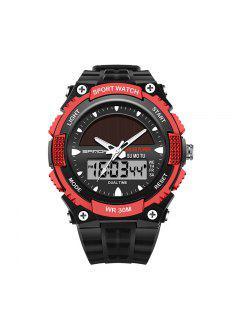 Sanda 719 5313 Multifuncional Reloj Hombre Deportivo Al Aire Libre - Negro Y Rojo