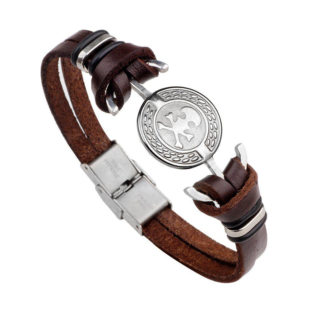 Skulls Stainless Steel Bracelet Hand Woven Bracelet
