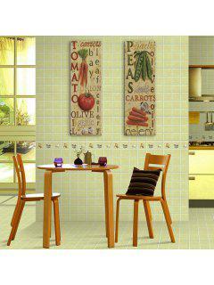 Yc Special Design Frameless Paintings Fresh Vegetables Of 2 - Green+orange 12 X 35 Inch (30cm X 90cm)
