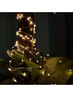 2M 20-LED Lights Battery Powered Copper Wire String Lights For Christmas Festival Wedding Party Home Decoration - White
