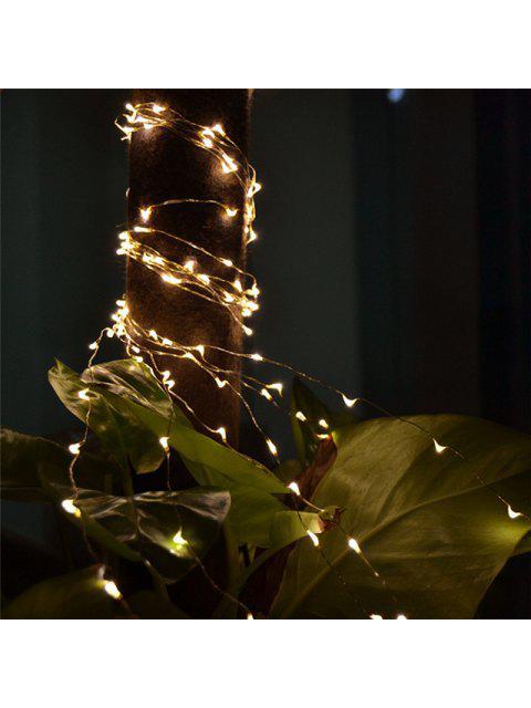 2M 20-LED-Lichter Batteriebetriebene Kupferdraht Lichterketten für Weihnachten Festival Hochzeit Dekoration - Weiß  Mobile
