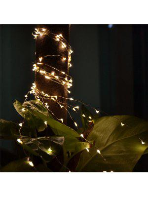 2M 20-LED Lights Battery Powered Copper Wire String Lights for Christmas Festival Wedding Party Home Decoration