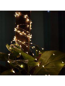 2 متر 20-ليد أضواء بطارية بدعم الأسلاك النحاسية سلسلة أضواء لعيد الميلاد مهرجان حفل زفاف تزيين المنزل - أبيض