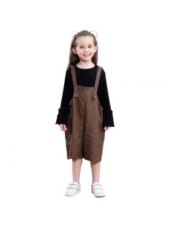 Girls In Europe And America Sleeveless Pants - Coffee 100