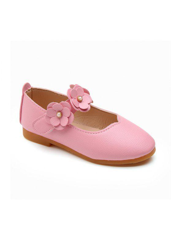 Girls flowers princess shoes single shoes leather shoes pink kids outfit girls flowers princess shoes single shoes leather shoes pink 26 mightylinksfo