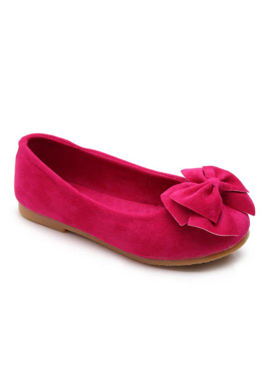 af8798160 BZ-A06 Spring New Fashionable All-Match Jelly Girls Bow Shoes Doug Shoes - Rose  Red 26