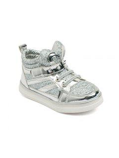 Children'S Shoes Are Shoes Casual Shoes In Sequins Student Shoes - Silver 33