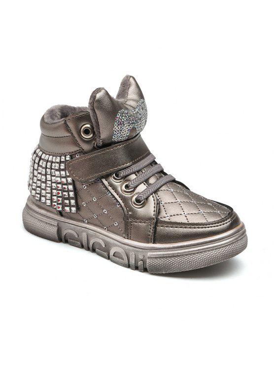 Precio de fábrica 2019 amplia selección hacer un pedido Zapatos para niños Zapatos altos Zapatos y zapatos de algodón Niños Zapatos  casuales para niñas GRAY BLACK RED