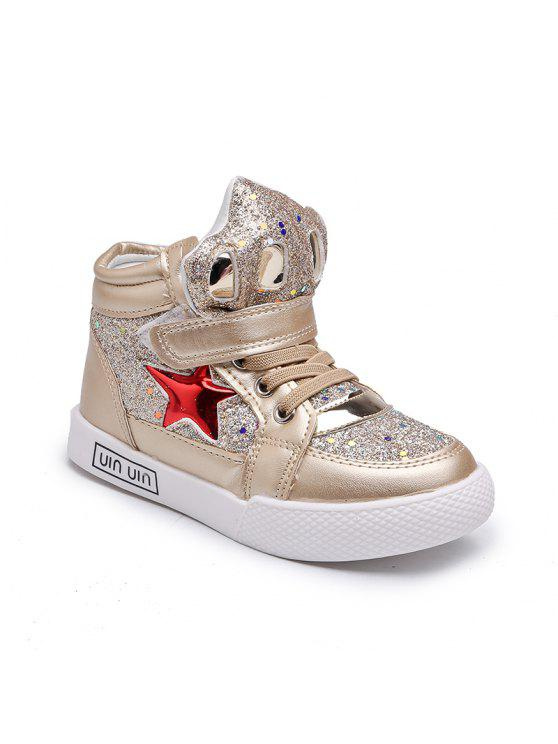 c2be66e02534e5 The New Girls Help Children Fashion Shoes Gold Star In Sports Shoes Girl  Students - Golden 29