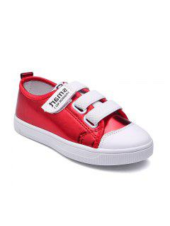 Flat Bottomed Sports Shoes For Children - Red 27
