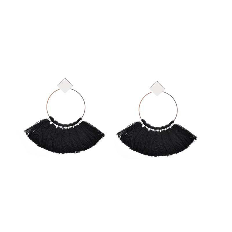 Folk Style Mix Tide Products Earrings Square Sequins Tassel Earrings Accessories 231750901