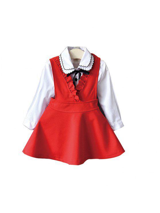 b65ef6398da0 Camisa Manga Larga y Vestido para Niña 2 piezas FLAME BLACK