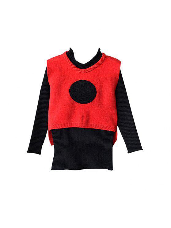 Mädchen-Anzüge 2pcs Weste-langes Gestricktes Kleid Flame: Girls Wear ...