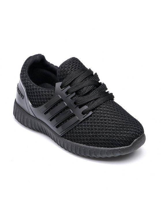 21f85f881c903 Zapatos Deportivos De Punto De Suela Blanda Para Niños Negro  26