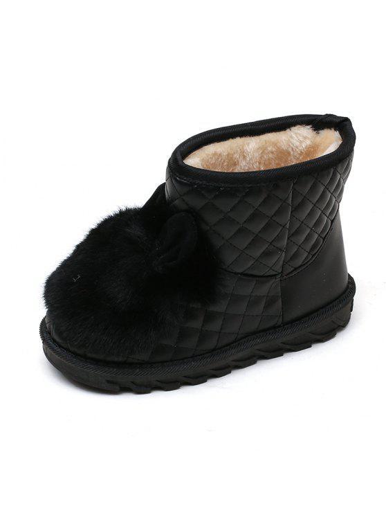 cheap for discount 58c6b 9e3b1 Winter Kaninchen Mädchen Faux Wildleder Slip On Snow Boots FLAME PAPAYA  BLACK