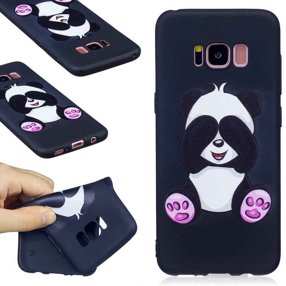 Gaufré a peint le cas de téléphone de TPU pour Samsung Galaxy S8